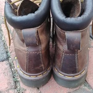 Doc Martens brown leather boots mens 6 womens 8